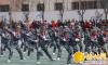 定边县希望小学举行2017年第二期军训结业汇报演出