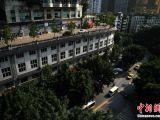 重庆五层楼顶建路行车 马路建筑爆红引热议