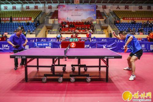 """2018年""""银河杯""""全国历史文化名城乒乓球赛开幕"""