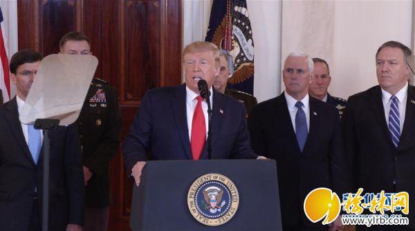 (國際)(1)特朗普說伊朗襲擊未造成美方人員傷亡