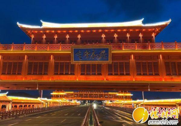 世界跨徑最大最長的廊橋金峰大橋通過交工驗收