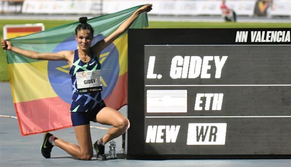 (體育)(1)田徑——吉迪打破女子5000米世界紀錄