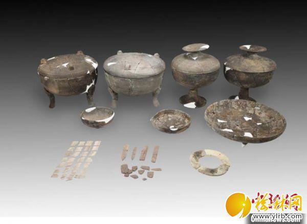 東周M6墓葬出土器物。山西省考古研究院供圖
